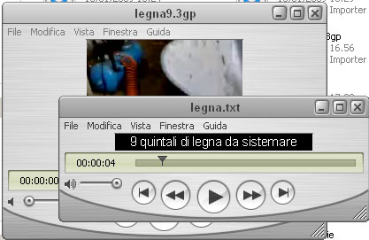traccia testo e traccia audiovideo con QuickTime player